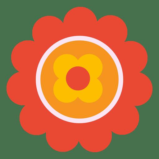 Orange flower icon 3