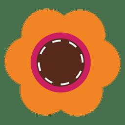 Orange flower icon 4