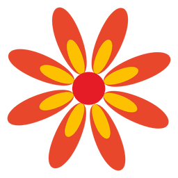 Icono de flor de naranja 5