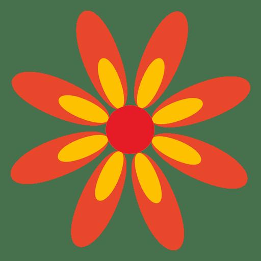 Orange flower icon 5