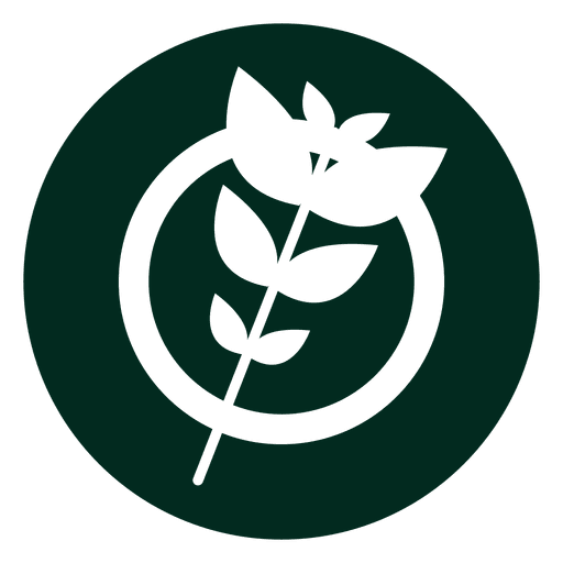 Organic branch logo Transparent PNG