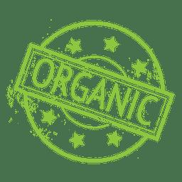 Emblema de rótulo de ecologia de alimentos orgânicos
