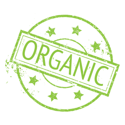 Organic food ecology label badge