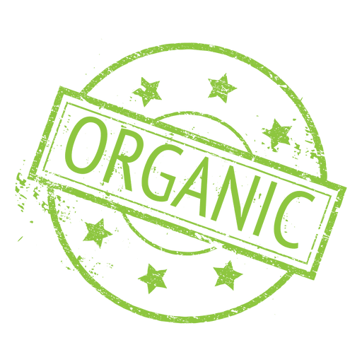 Organic food ecology label badge Transparent PNG