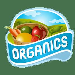 Logotipo de frutas orgânicas