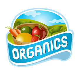 Logotipo de frutas orgánicas
