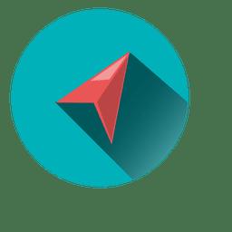 Icono de círculo de avión de origami