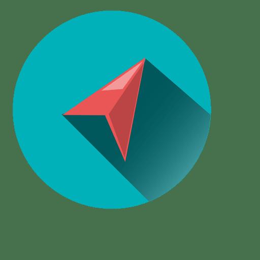 Origami airplane circle icon