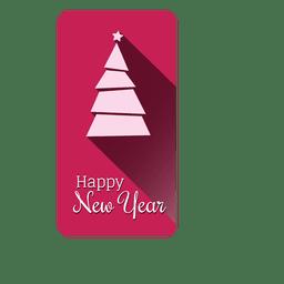 etiqueta de Origami árbol de navidad