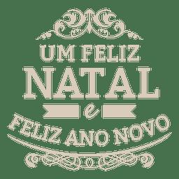 Adorno navidad etiqueta portuguesa