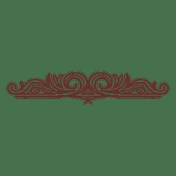 Ornamento remolinos divisor 17