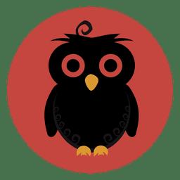 Icono del círculo del búho
