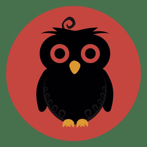 Owl circle icon