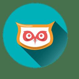 Cara de coruja rodada ícone