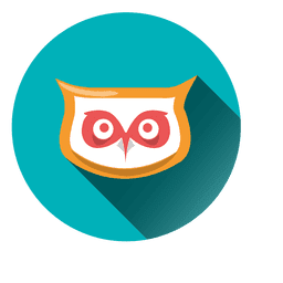 Owl face round icon