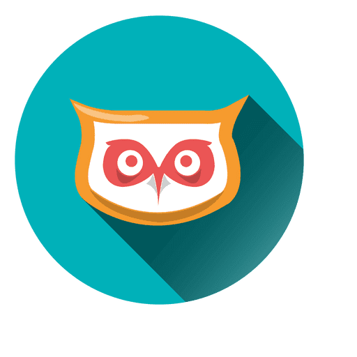 Owl face round icon Transparent PNG