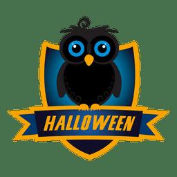 emblema da coruja do dia das bruxas