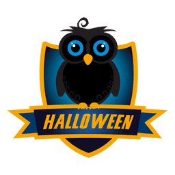 Owl halloween badge