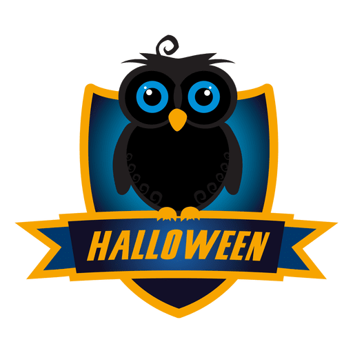 Eule Halloween Abzeichen Transparent PNG