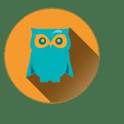 Owl round icon