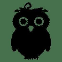 silueta del búho