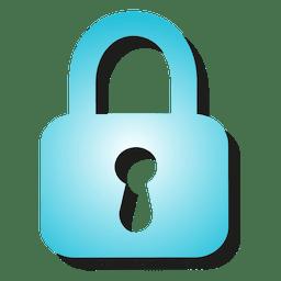 Gradient padlock icon
