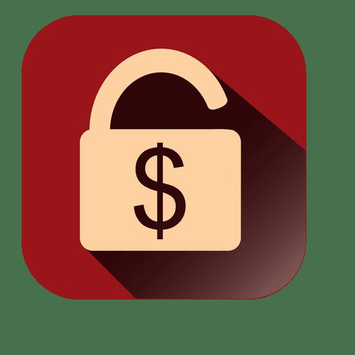 Icono de candado cuadrado Transparent PNG