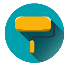 Paint roller round icon