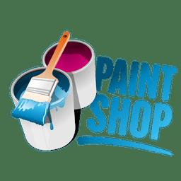 Logotipo de la tienda de pintura