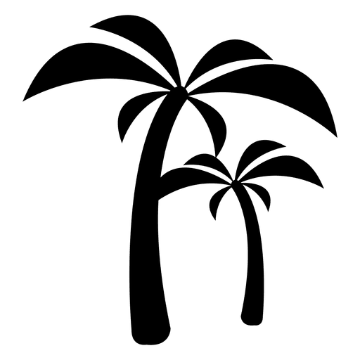 Ícone de árvores de palma Transparent PNG