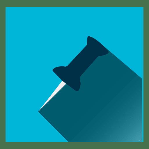 Icono cuadrado de alfiler de papel