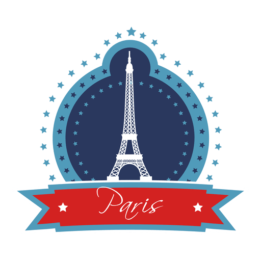 Paris landmark emblem Transparent PNG