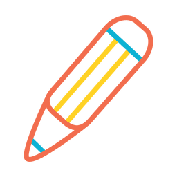 Pencil colorful stroke icon