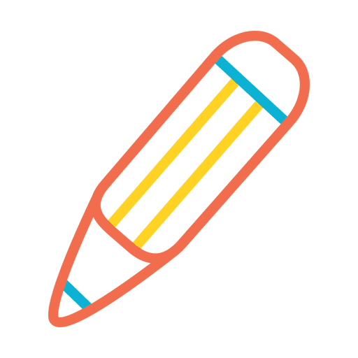 Pencil colorful stroke icon Transparent PNG