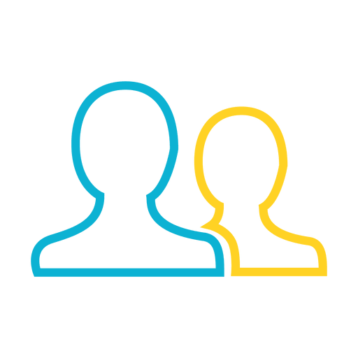 Icono de contacto principal de personas