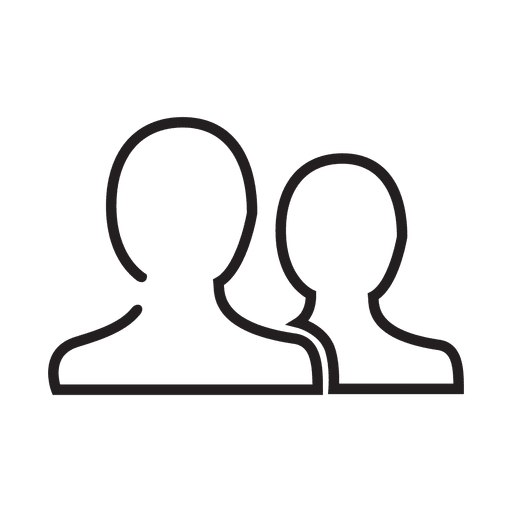 Icono de contacto de personas Transparent PNG