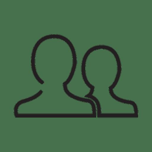 Icono de contacto de personas