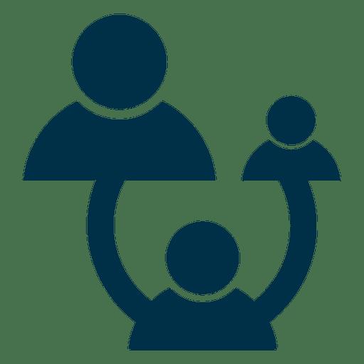 Icono cuadrado de red de personas