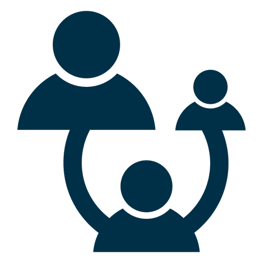 People network square icon