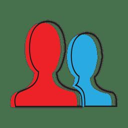 Chat-Symbol für Personenbenutzer