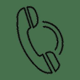 Icono de trazo de llamada telefónica
