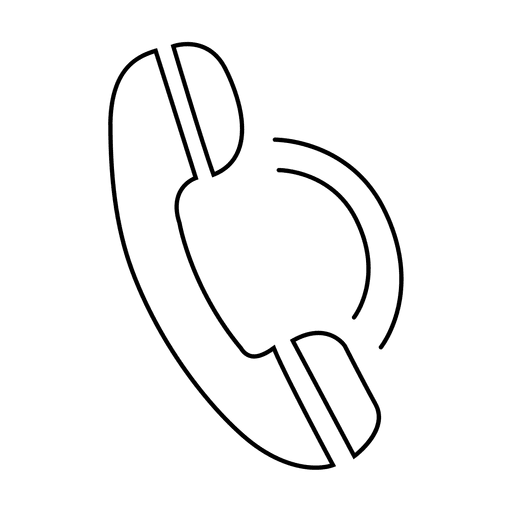 Icono de trazo de llamada telefónica Transparent PNG