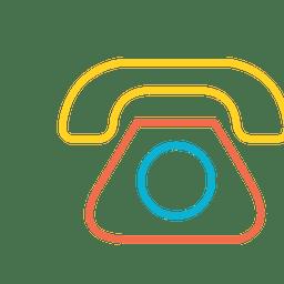 Ícone de mensagem de telefone colorido