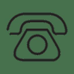 Icono de mensaje de telefono