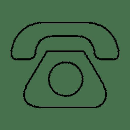 Icono de trazo de mensaje de teléfono Transparent PNG