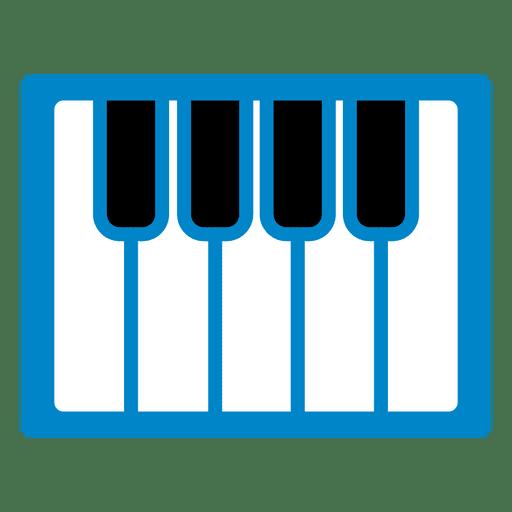 Icono de teclado de piano Transparent PNG