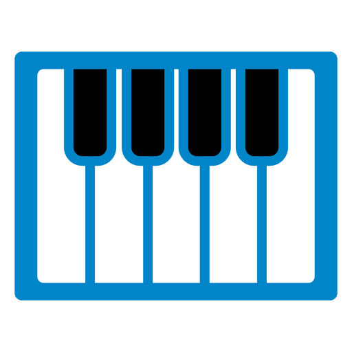 Piano keyboard icon Transparent PNG
