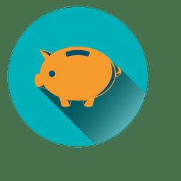 Ícone de círculo de porco
