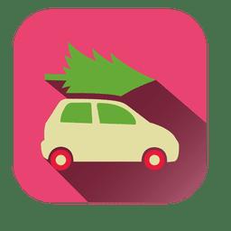 Pinheiro carro quadrado ícone