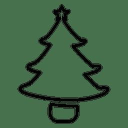 Pine tree line icon